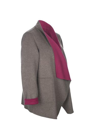 Silk and Cashmere Palto Kahve